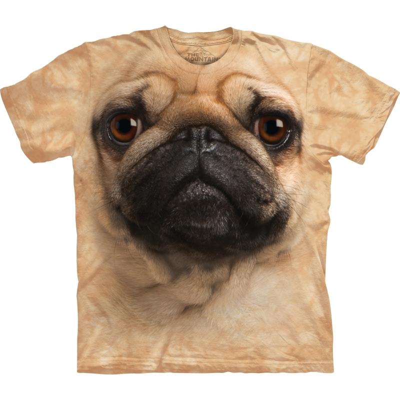 Brown Mopshond Face shirt The Mountain