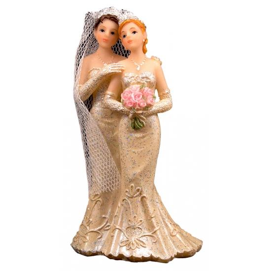 Bruidstaart twee vrouwen taart decoratie