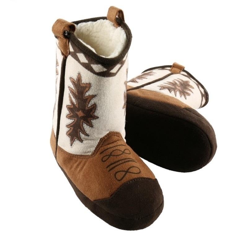 Bruine cowboylaars sloffen voor kinderen