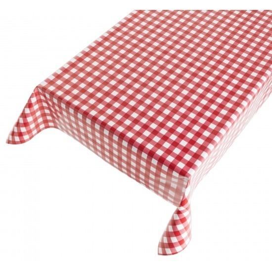 Buiten tafelkleed/tafelzeil rode ruiten 140 x 170 cm