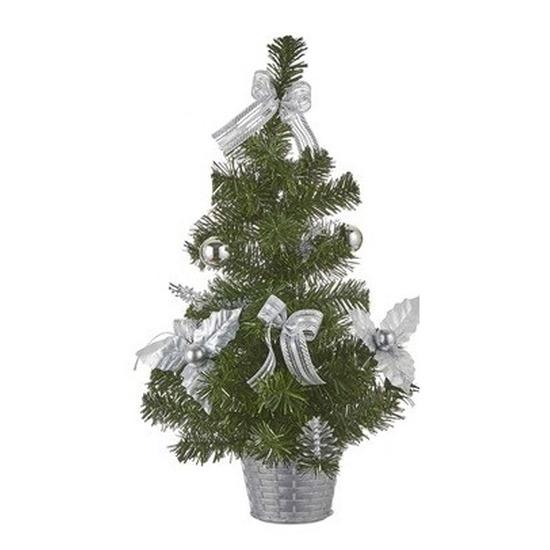 Bureau Kerstboom zilver 52 cm