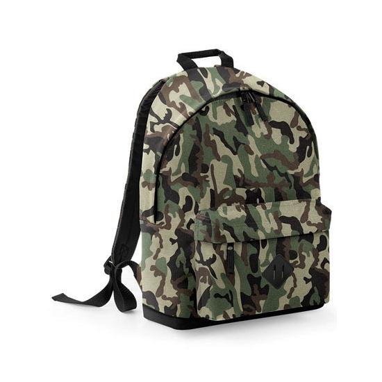 Camouflage rugtas/schooltas/rugzak 42 cm