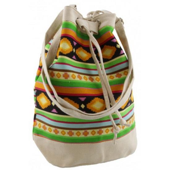 Creme hippie tas voor dames 30 cm