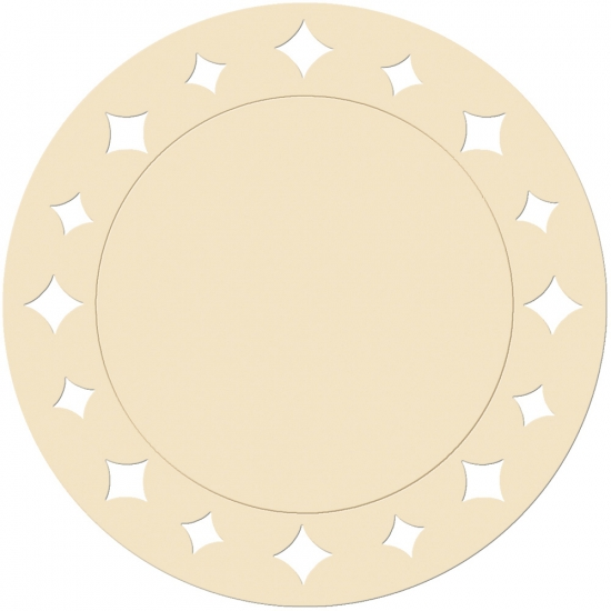 Creme versiering placemats 33 cm