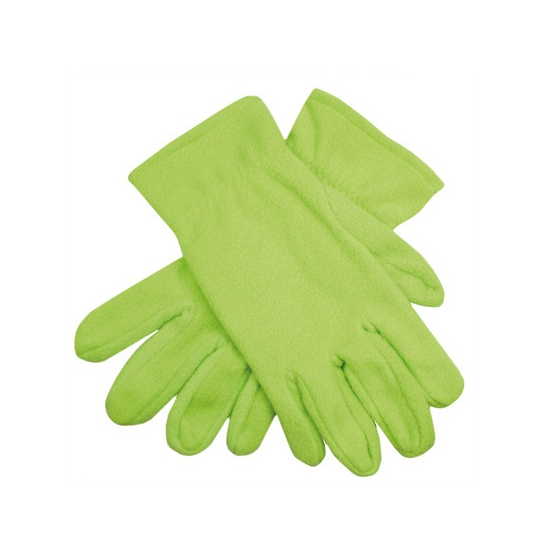 Dames fleece handschoenen lime