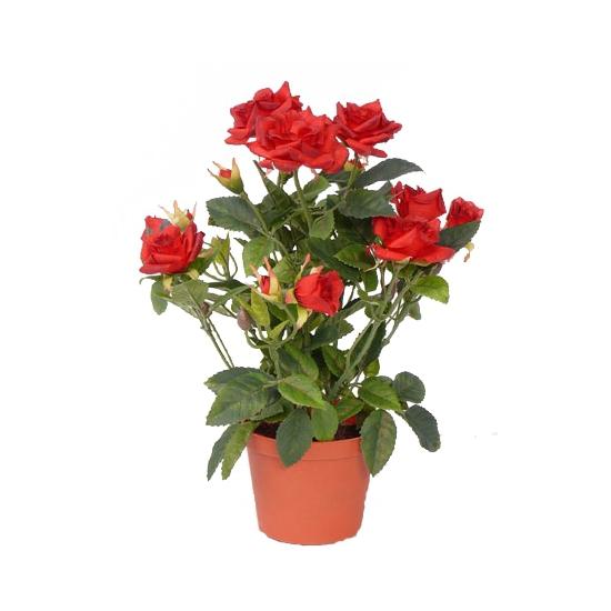 Decoratie rode rozen 20 cm