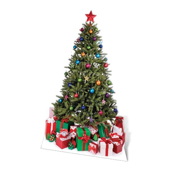 Decoratiebord Kerstboom met cadeaus