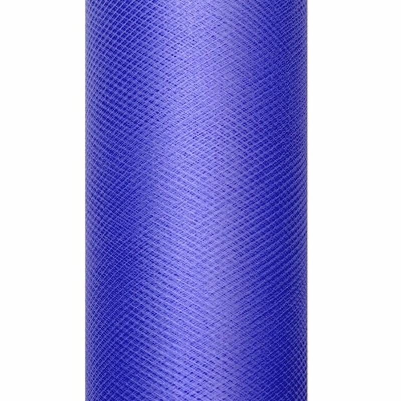 Decoratiestof tule blauw 15 cm breed