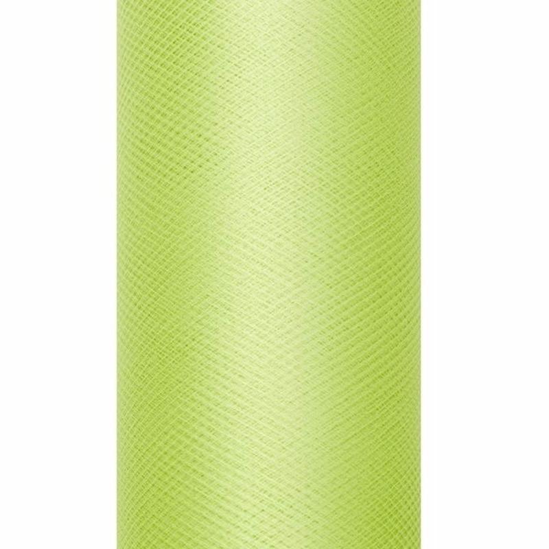 Decoratiestof tule lichtgroen 15 cm breed