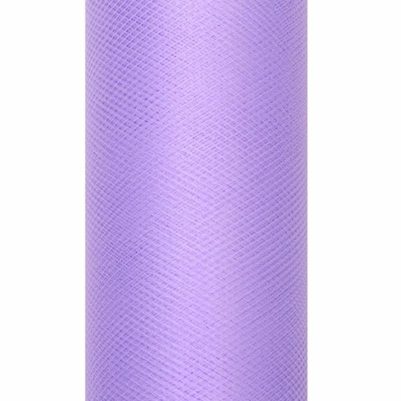 Decoratiestof tule paars 15 cm breed