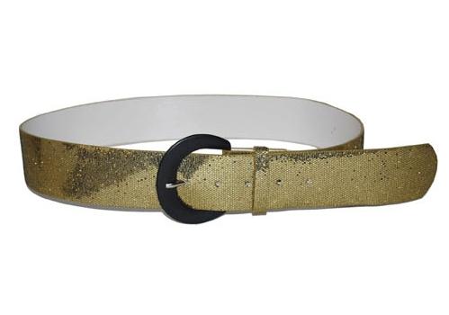 Disco riem glitter goud 110 cm
