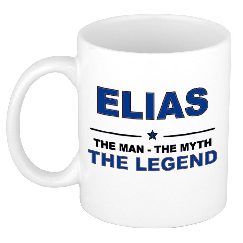 Elias The man, The myth the legend pensioen cadeau mok-beker 300 ml