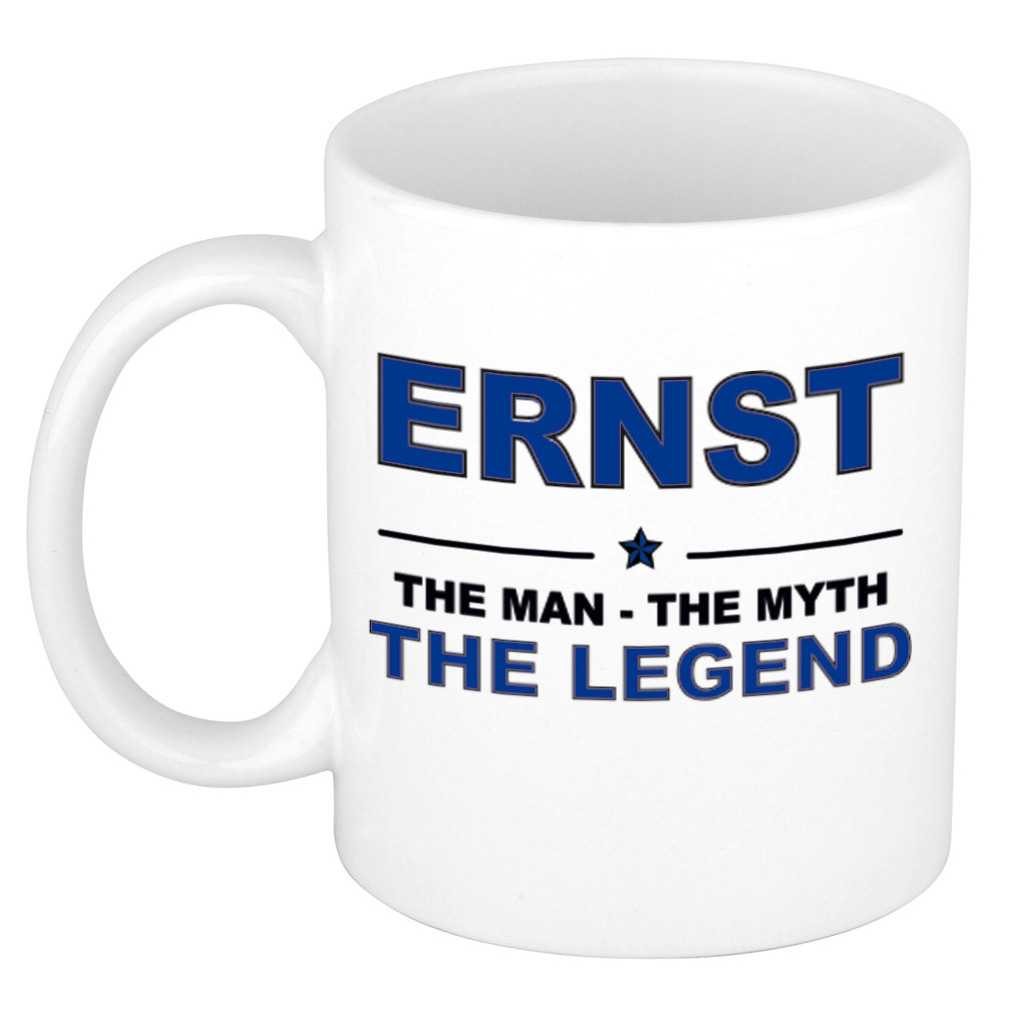 Ernst The man, The myth the legend pensioen cadeau mok-beker 300 ml