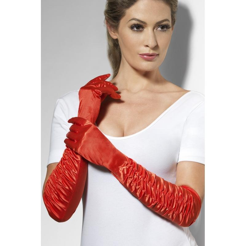Feest handschoenen rood