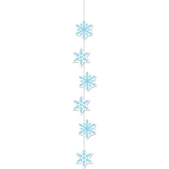 Feestslinger sneeuwvlok 108 cm etalage versiering