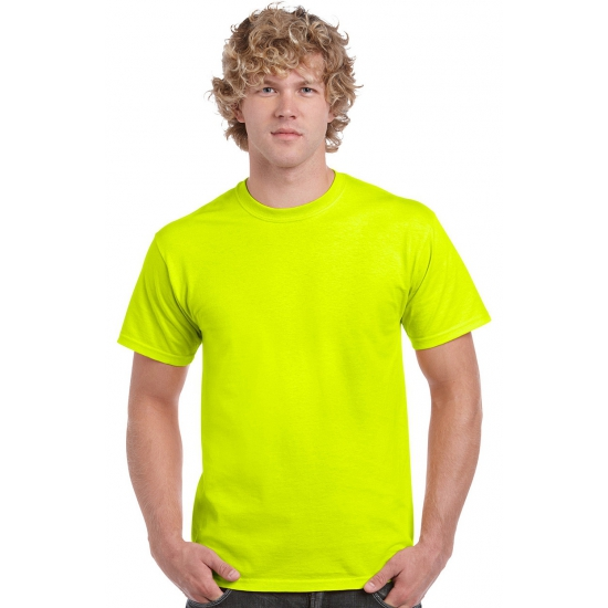 Fel gekleurde neon gele shirts