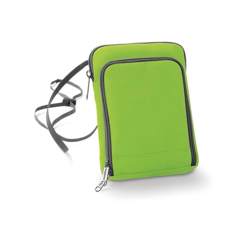 Fel groene paspoorttasje 19 cm