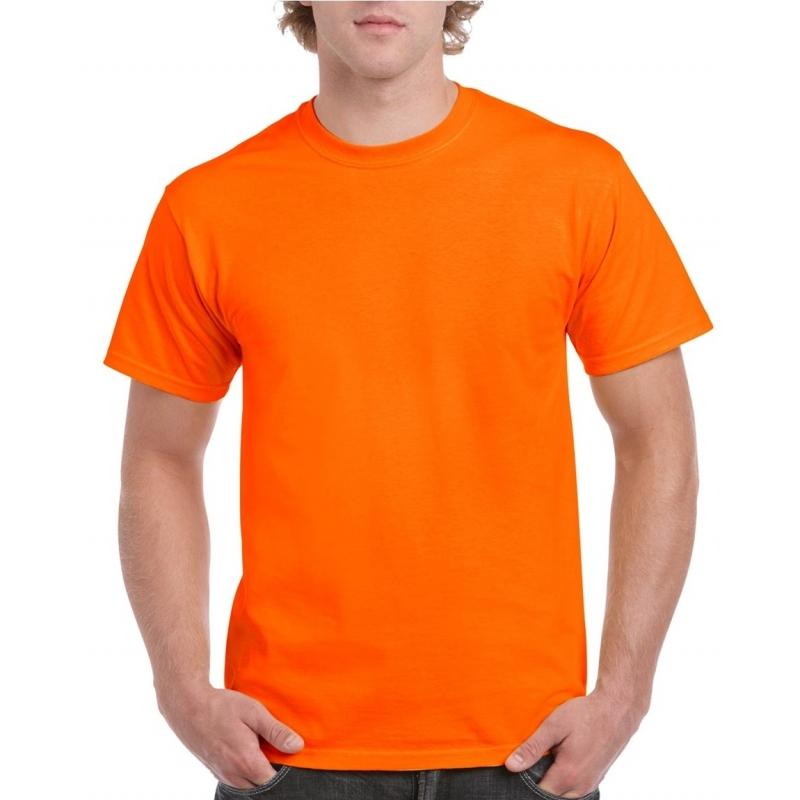 Fel oranje shirt voor volwassenen