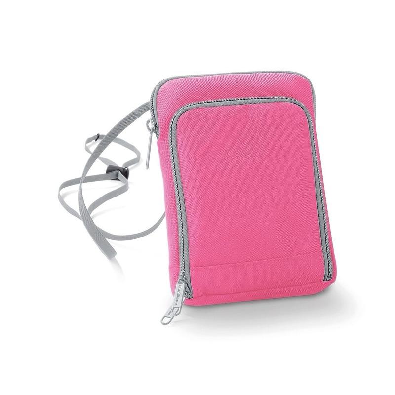 Fel roze paspoorttasje 19 cm