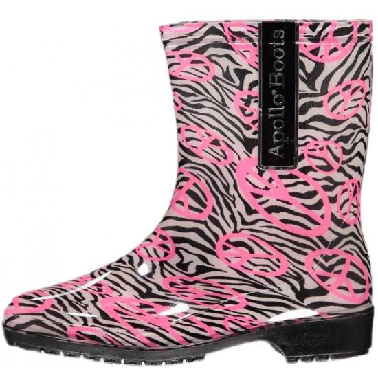 Festival laarzen voor dames zwart/roze