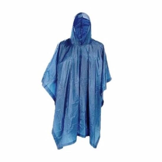 Festival regenponcho blauw voor dames/heren