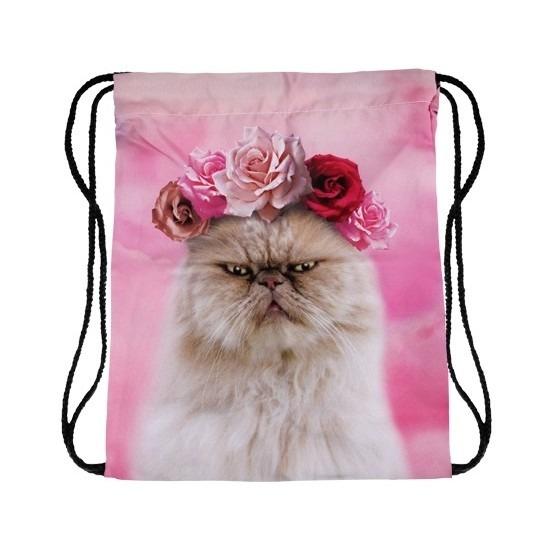 Festival tasje persische kat/poes roze print