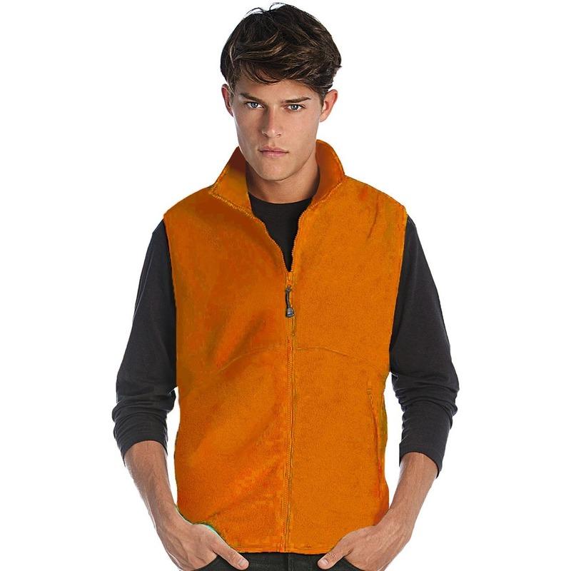 Fleece bodywarmer werkkleding oranje voor heren
