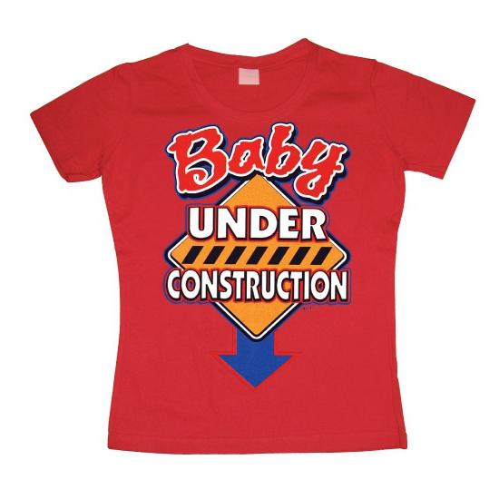 Fun damesshirt Baby Under Construction