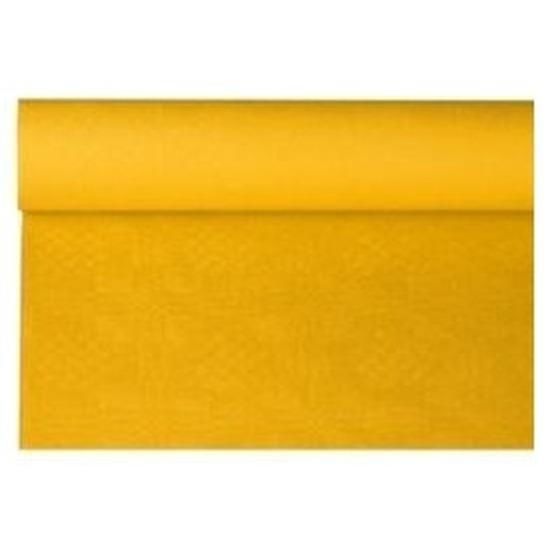 Geel papieren tafellaken/tafelkleed 800 x 118 cm op rol