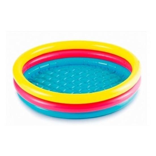 Gekleurd rond opblaasbaar zwembad klein 86 cm baby-kinderen