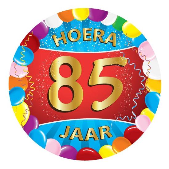 Gekleurde bierviltjes 85 jaar
