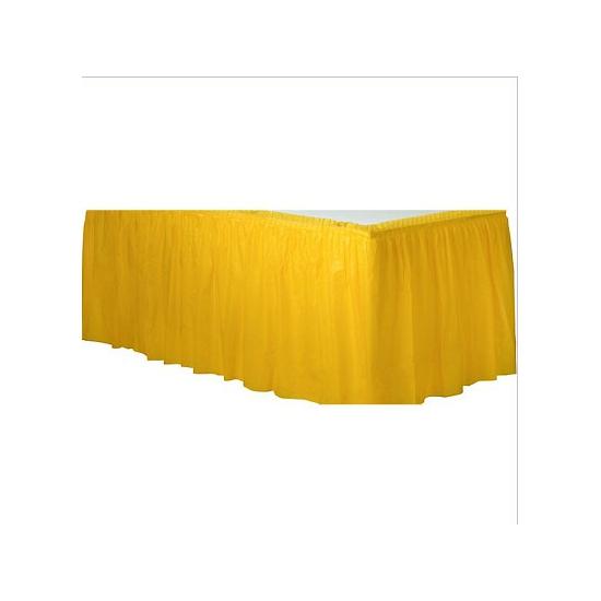 Gele tafelranden