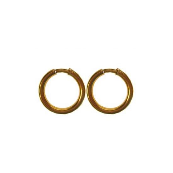 Goud kleurige clip oorbellen