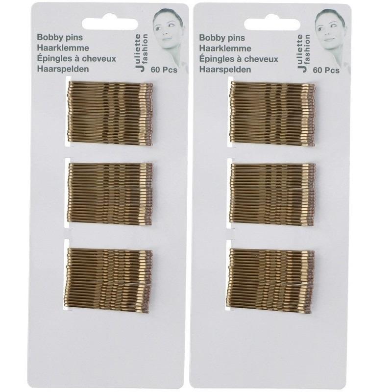Gouden schuifspeldjes/haarspelden 5 cm 120 stuks
