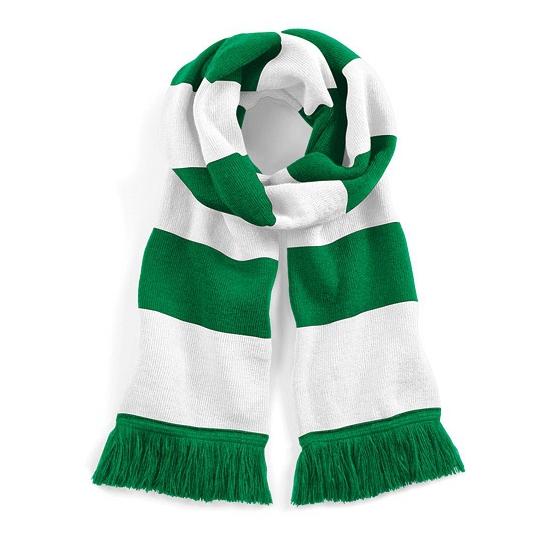 Groen met witte retro sjaal 182 cm