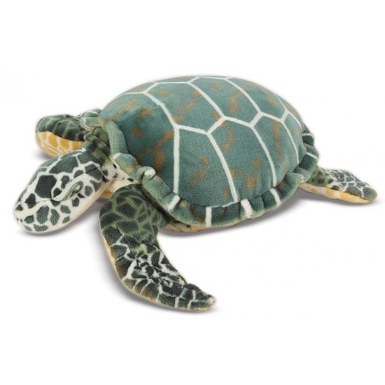 Groene zeeschildpad knuffel 81 cm
