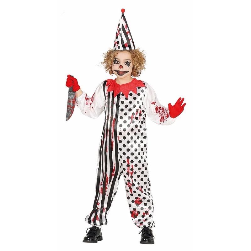 Halloween kleding enge clown voor jongens