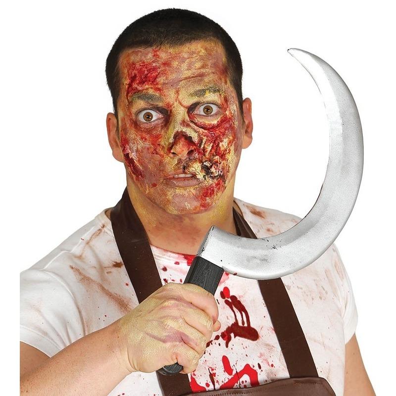 Halloween Plastic sikkel 44 cm