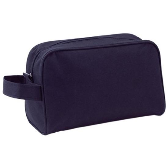 Handbagage toilettas zwart met handvat 21,5 cm voor heren/dames