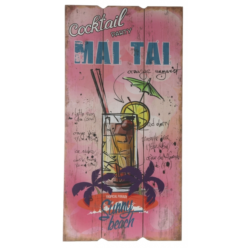 Hawaii wandversiering bordje Mai Tai