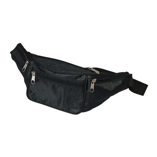 Heuptasje/fanny pack zwart 29 x 10 x 6 cm festival musthave