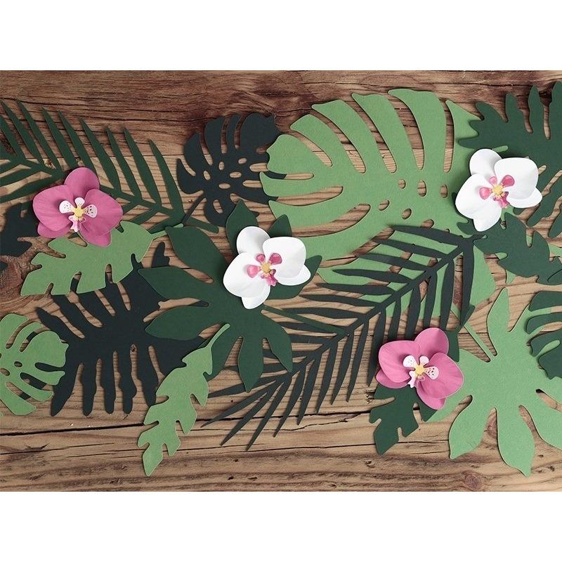 Huwelijk decoratie orchideeen 6 stuks