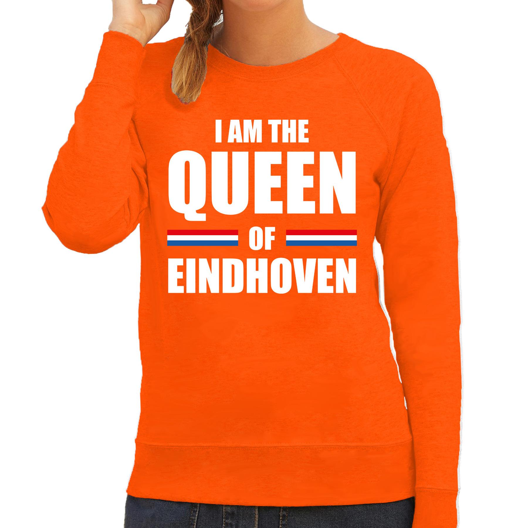 I am the Queen of Eindhoven Koningsdag sweater-trui oranje voor dames
