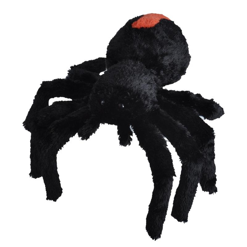 Insecten knuffels roodrugspin zwart 35 cm