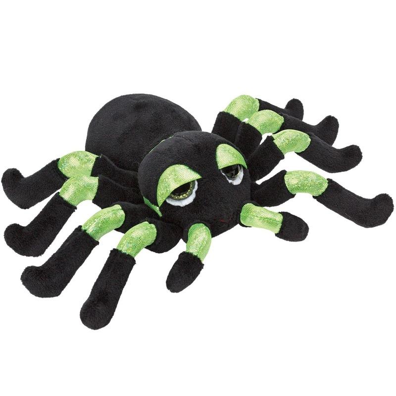 Insecten knuffels spin groen 13 cm