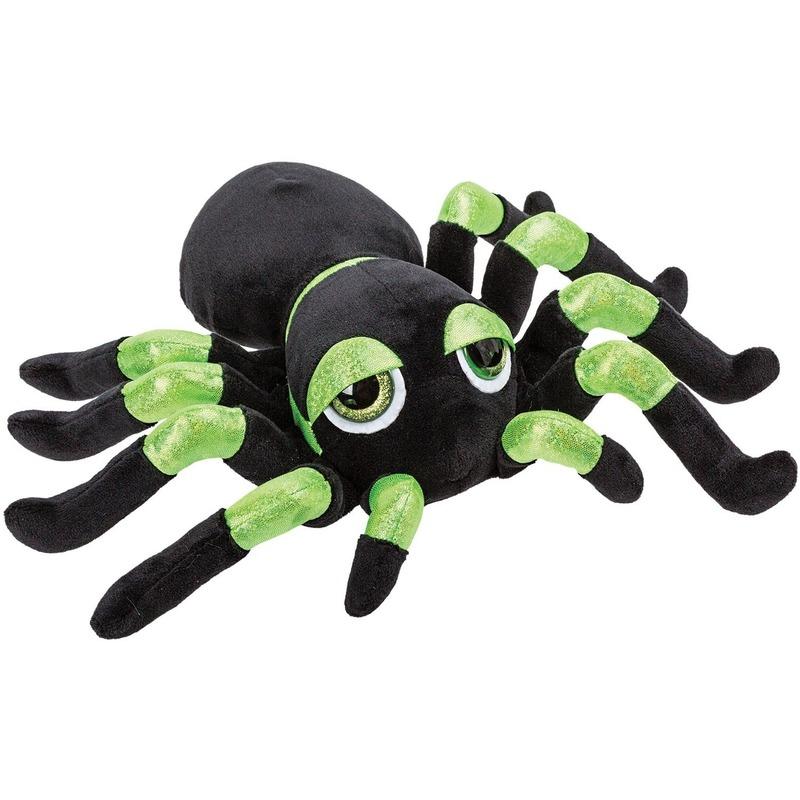 Insecten knuffels spin groen 22 cm