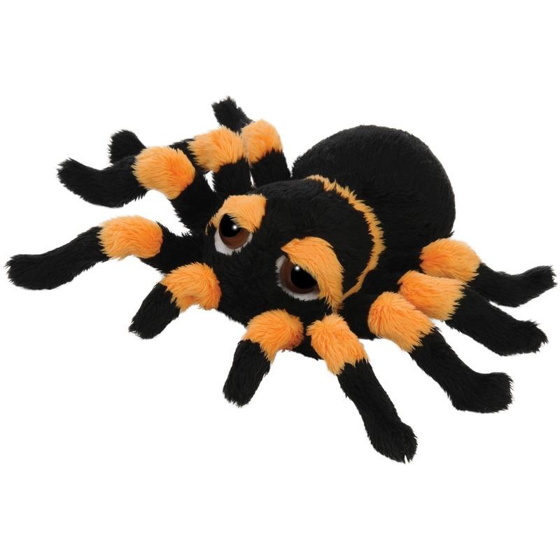Insecten knuffels spin oranje 13 cm