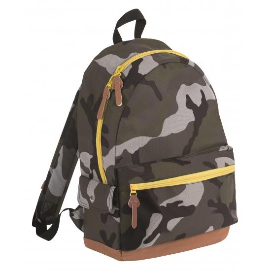Junior camouflage schooltas rugtas/rugzak 42 cm