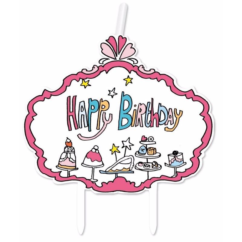 Kaarsje Jill happy birthday verjaardag