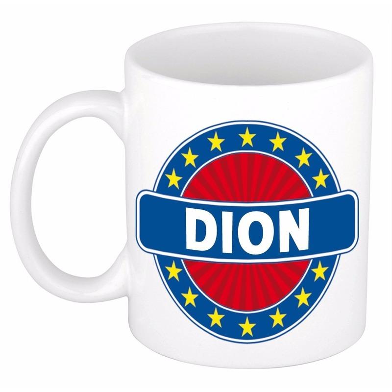 Kado mok voor Dion